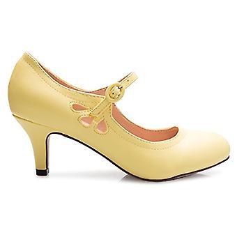 OLIVIA K Women's Kitten Low Heels Round Toe Mary Jane Pumps - Adorable Vintag...