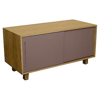 Fusion Living Modern Retro Oak e Grey TV Table