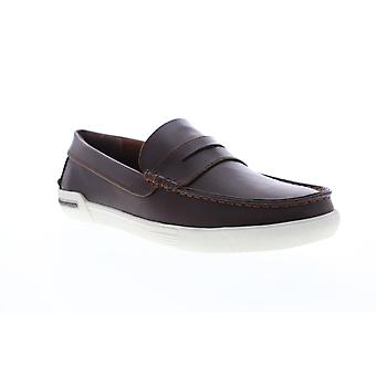 Unlisted by Kenneth Cole Un Anchor Mens Brown Casual Slip On Loafers Shoes