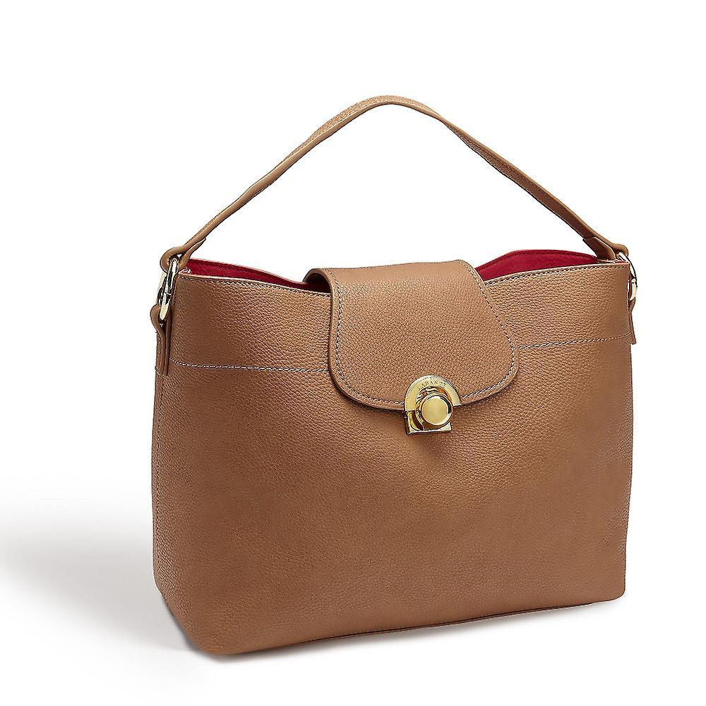 Sara Vegan Brown Hobo bag