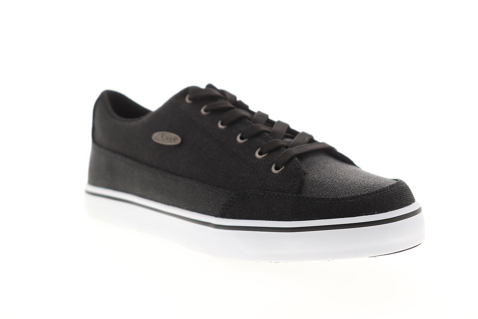 Lugz Colony Cc Mens Black Canvas Lace Up Low Top Sneakers Chaussures