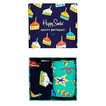 Happy Socks Verjaardagscadeau box - 2 Pack