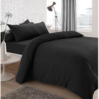 Jersey Melange Kohle Bettwäsche Set