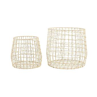 Light & Living Basket Set Of 2 40x35 And 50x45cm Surif Natural