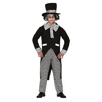 Mens Crazy Hat Mad Hatter Fancy Dress Kostuum