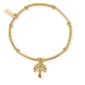 ChloBo Gold süße Mini Herz Baum des Lebens Armband