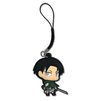 Cell Phone Charm - Attack on Titan - New SD Levi Anime Licensed ge17208