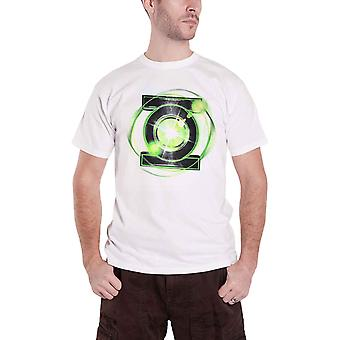 Official Mens Green Lantern T Shirt Emblem Logo new DC Comics White