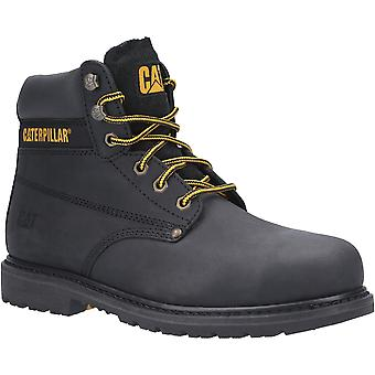 Caterpillar Mens Powerplant GYW Lace Up Leather Safety Boots