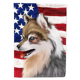 Alaskan Klee Kai American Flag Flag Canvas House Size