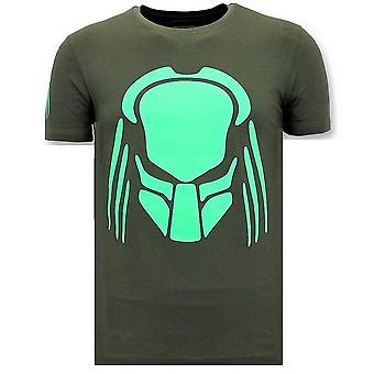 T-paita Print - Predator Neon Tulosta - Vihreä