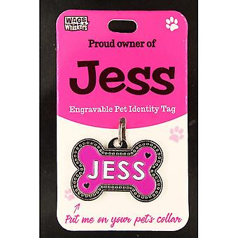 Wags & Whiskers Pet Identity Tag - Jess