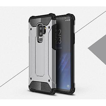 Stoff zertifiziert® Samsung Galaxy A8 2018 - Rüstung Fall Abdeckung Cas TPU Fall grau