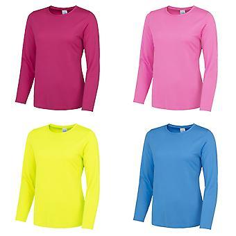 AWDis Just Cool Womens/Ladies Girlie Long Sleeve T-Shirt