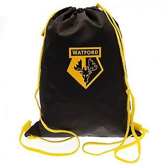 Watford FC Crest Drawstring Gym Bag