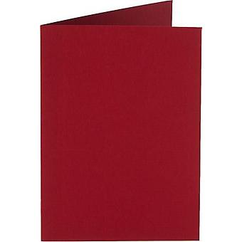 Papicolor Doub.Card square 13,2cm christmas-red 200grCP 6pc 310943- 132x132 mm