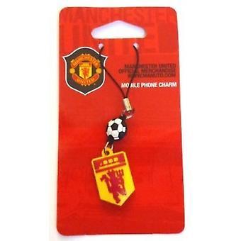 Manchester United FC virallinen jalkapallo lahja punainen paholainen puhelin charmia