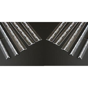 10x Acrylic 300mm Continuous Piano Hinges