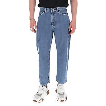 Sunnei Mt03acr06wdws Men-apos;s Blue Cotton Jeans