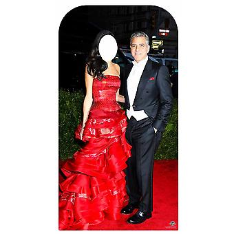 George Clooney Celebrity Couple Stand In Lifesize Cardboard Cutout / Standee