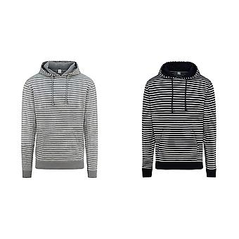 AWDis Unisex Adults Nautical Striped Hoodie