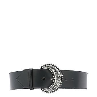 Etro 1n17224101black Women's Black Leather Belt