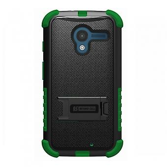 MOTOROLA MOTO X TRISHIELD CASE - BLACK/DARK GREEN