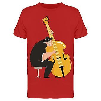 Männliche Musiker Kontrabass Tee Men's -Bild von Shutterstock