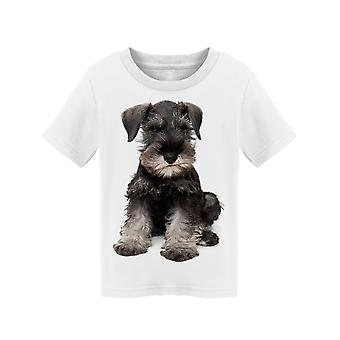 Schnauzer Puppy Sits Tee Toddler's -Image by Shutterstock