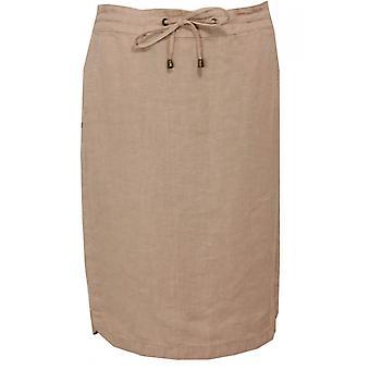 Olsen Sand Linen Skirt
