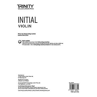 Trinity College London Violin Exam Pieces 2020-2023 - Initial (part on