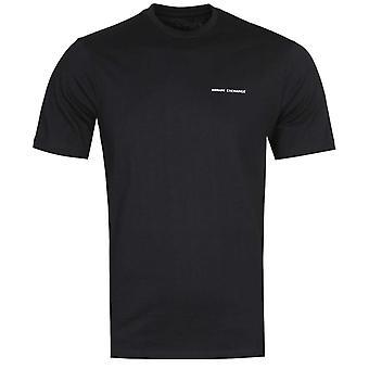 Armani Exchange hinteren Streifen schwarz Logo T-Shirt