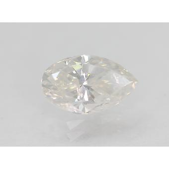 Certified 1.00 Carat D Color SI2 Pear Natural Loose Diamond For Ring 8.11x5mm