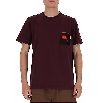 Marni Humu0167p0s2276300r92 Men's Burgundy Cotton T-shirt