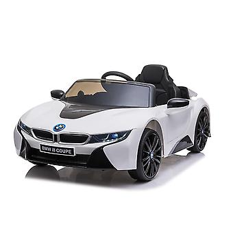 licenced bmw white i8 coupe 12v electric ride on car one seater
