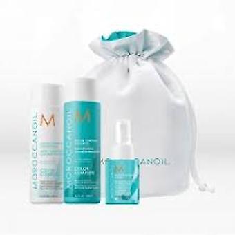 Moroccanoil Beauty In Bloom Moisture Repair Gift Set 250ml Shampoo + 250ml Conditioner + 20ml Mending Infusion + Bag