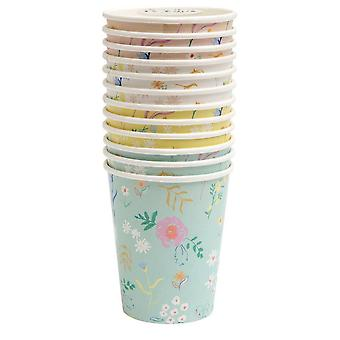 Meri Meri Wildflower Papier Party Tassen x 12