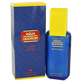 AQUA QUORUM de Antonio Puig Eau De Toilette Spray 3.4 oz/100 ml (hommes)