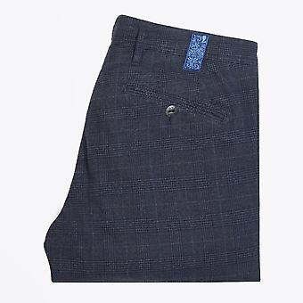 MMX  - Lupus - Soft Checked Trousers - Navy