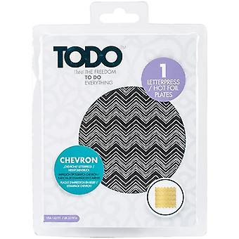 TODO Hot Foil Press Texture Chevron