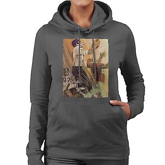 The Saturday Evening Post Football Catch Women's Hooded Sweatshirt