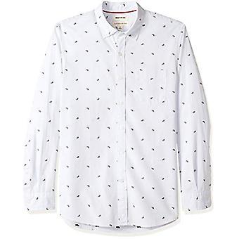 Goodthreads Men's Standard-Fit Long-Sleeve Dobby Shirt, -lichtblauwe paisley, ...