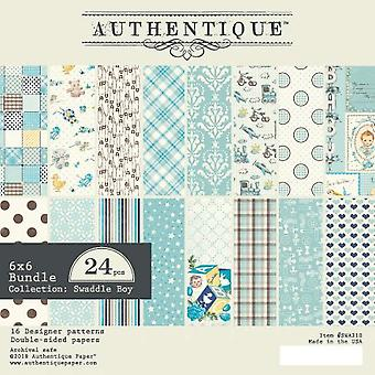 Authentique Swaddle Boy 6x6 pulgadas de papel Pad
