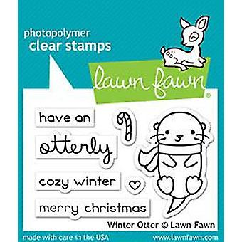 Lawn Fawn Winter Otter Clear Stamps