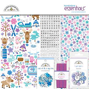 Doodlebug Design Winter Wonderland 12x12 Inch Essentials Kit