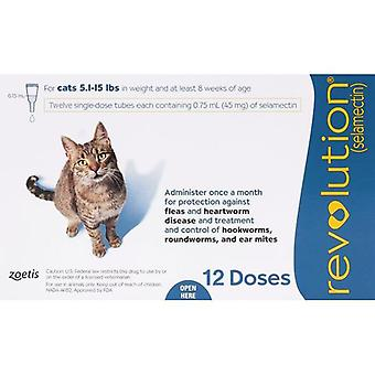 Revolution For Cats 5.7-15.5lbs (2.6-7.5kg) - 12 Pack