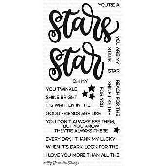 星のクリアスタンプに書かれた私のお気に入りのもの