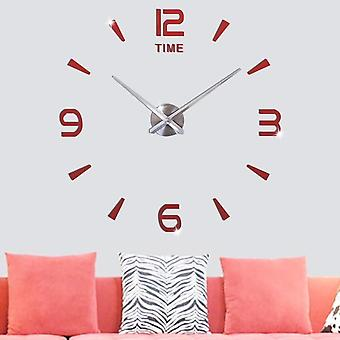 Modern Design Acrylic Silent Digital 3d Diy Wall Clock Sticker For Living Room