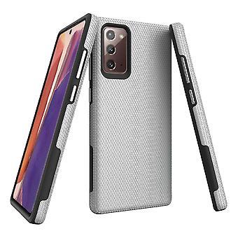 Para Samsung Galaxy Note 20 Armour Funda de Protección Resistente Plata