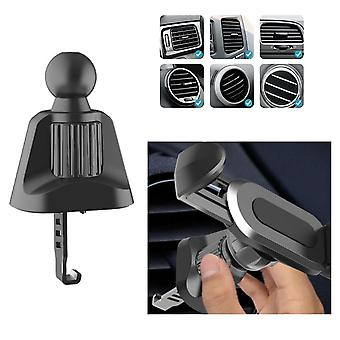 Bakeey upgrade version clip universal wheel 360° rotation 17mm car air vent clip ball head support car phone holder stand